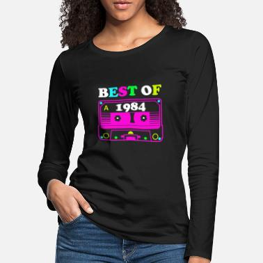 Established Best of 84 Kasette 1984 Retro Geburtstag Idee - Frauen Premium Langarmshirt