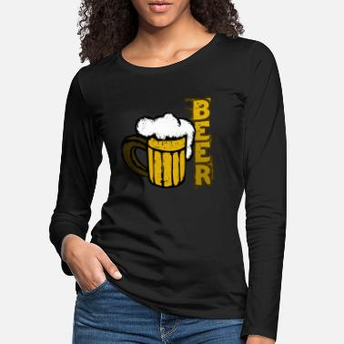 Foam Beer + foam in a glass - beer + foam in the glass - Women's Premium Longsleeve Shirt