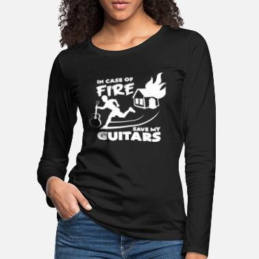 Funny &amp Guitar maker electric guitar guitar amp idea - Women's Premium Longsleeve Shirt