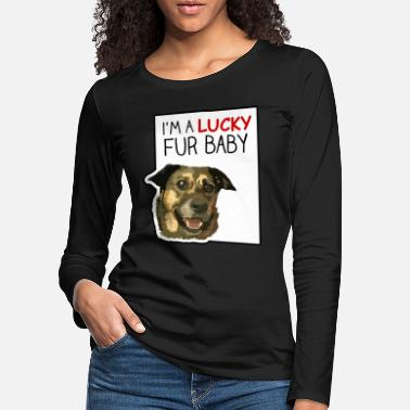 Great Dane I'm a lucky baby - Women's Premium Longsleeve Shirt