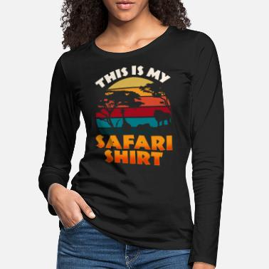 Buffalo Safari Africa T-Shirt Holiday Travel Wilderness Animals - Women's Premium Longsleeve Shirt