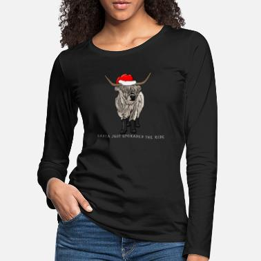Wild West Christmas ox gift idea for bulls - Women's Premium Longsleeve Shirt