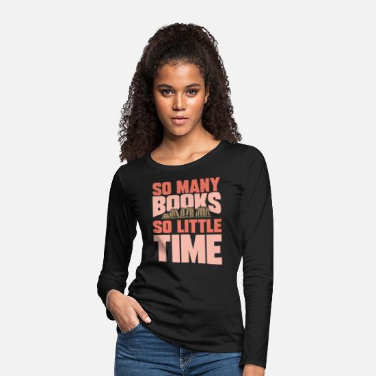 Bookworm Long sleeve shirts - Books - Women's Premium Longsleeve Shirt black