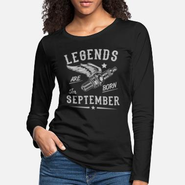 Born In September legends are born in September 01 - Women's Premium Longsleeve Shirt