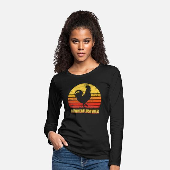 Farmer Long sleeve shirts - Chicken chicken whisperer - Women's Premium Longsleeve Shirt black