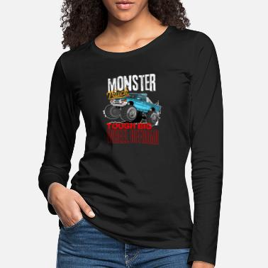 Offroad Monster Trucks | Tough Big Wheel Offroad 4x4 - Frauen Premium Langarmshirt