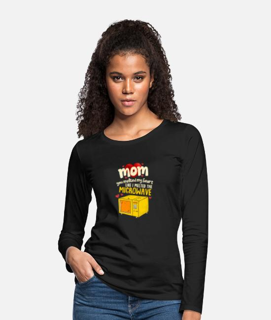 Heart Long sleeve shirts - Perfect Mother's Day Gift Mom you melted my heart - Women's Premium Longsleeve Shirt black
