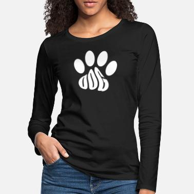 Paw Dog paw text form - Women's Premium Longsleeve Shirt