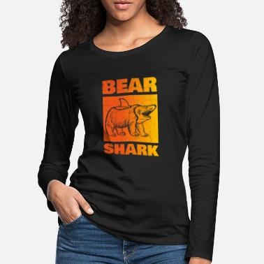 Torn Apart Bear shark, torn - Women's Premium Longsleeve Shirt