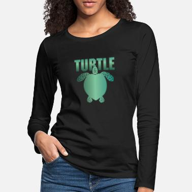 Tortue Marine Tortues, vie marine, animal, tortues marines - T-shirt manches longues premium Femme