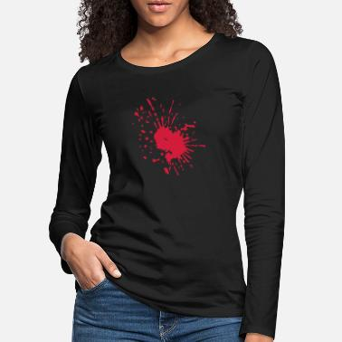 Blood Splatter BLOOD SPLATTER - Women's Premium Longsleeve Shirt