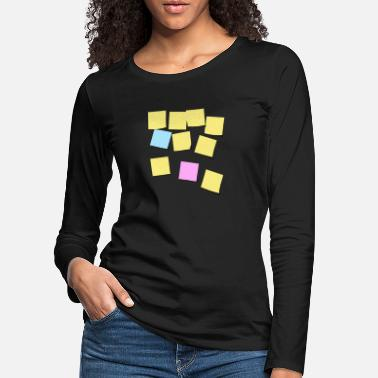 Note-clue Postit notes - Women's Premium Longsleeve Shirt
