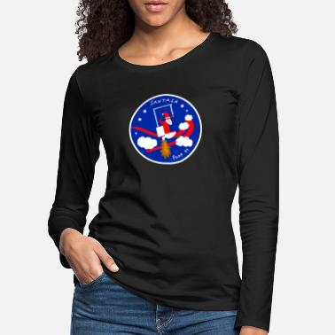 Wc Santasa Santa Claus rocket feces diarrhea space travel - Women's Premium Longsleeve Shirt