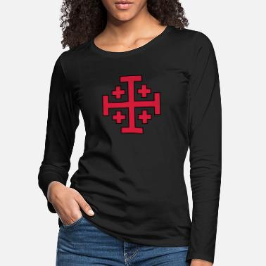 Maltese Jerusalem Cross - Women's Premium Longsleeve Shirt