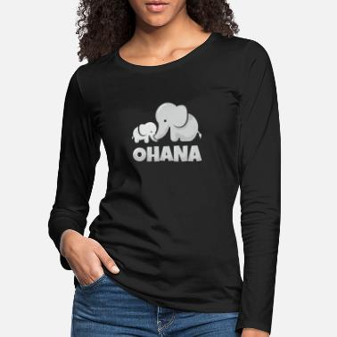 Holiday Hawaii Ohana Elephant Family Gift Idea - Women's Premium Longsleeve Shirt