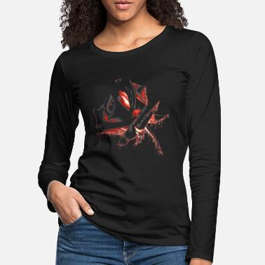 Gothic black rose of blood and fire - Women's Premium Longsleeve Shirt