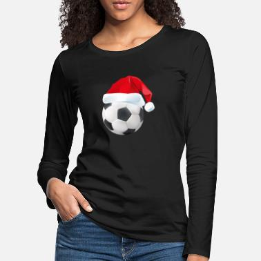 Football Santa Soccer Ball - Christmas Boys Kids Xmas - Women's Premium Longsleeve Shirt