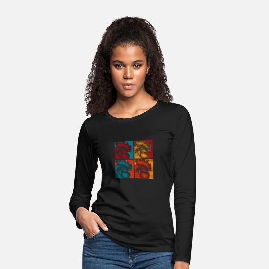 Gift Idea Long sleeve shirts - Chicken farmer village - Women's Premium Longsleeve Shirt black