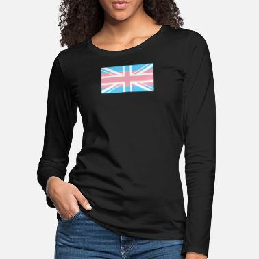 Strip Gay Pride LGBT Transgender UK Union Flag Stripe - Maglietta maniche lunghe premium donna