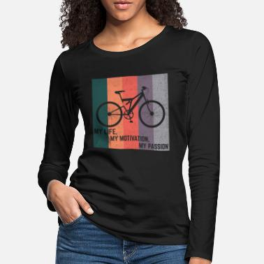 Electricity Bike shirt cycling cycling gift - Women's Premium Longsleeve Shirt