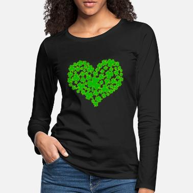 St Patricks Day Heart - St Patricks Day - St Patricks Day - Kleebl - Women's Premium Longsleeve Shirt