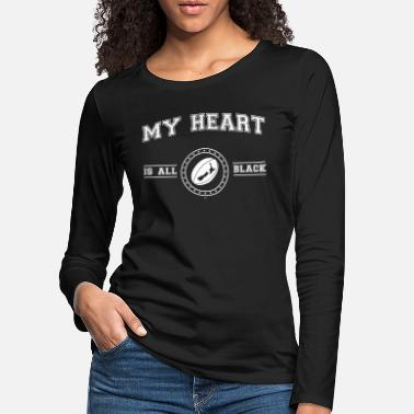 New Zealand My Heart Is All Black - Women's Premium Longsleeve Shirt