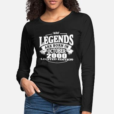 Established Legends are born in october 2000 - Women's Premium Longsleeve Shirt