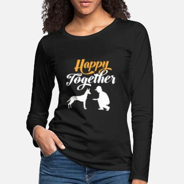 Happy Together - Pharaoh Dog & Dog Owner - T-shirt manches longues premium Femme