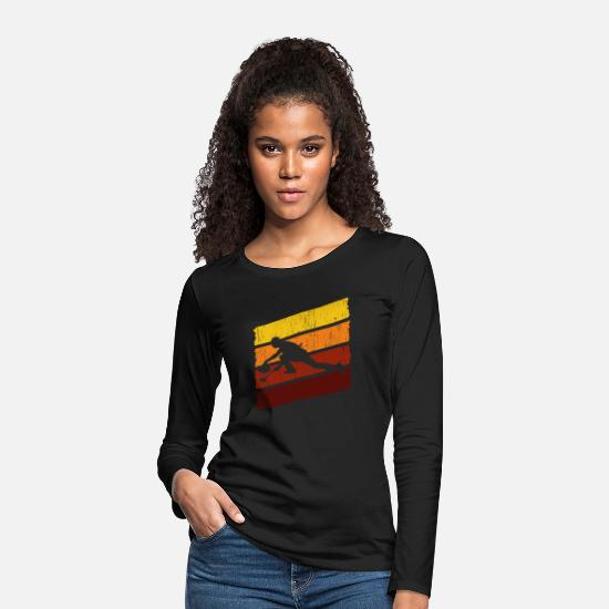 Gift Idea Long sleeve shirts - Curling vintage gift - Women's Premium Longsleeve Shirt black