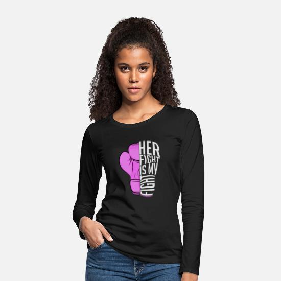 Love Long sleeve shirts - Lupus your fight is my fight - Women's Premium Longsleeve Shirt black