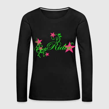 Rider Design with Tribal - Women's Premium Longsleeve Shirt