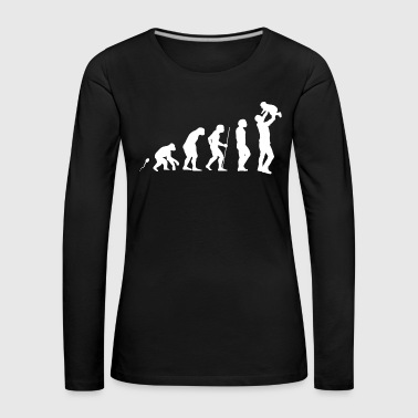 Dad Evolution Fun Shirt - Frauen Premium Langarmshirt