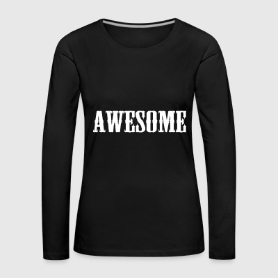 Awesome logo - Women's Premium Longsleeve Shirt