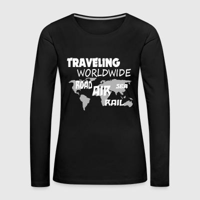 traveling worldwide - Women's Premium Longsleeve Shirt