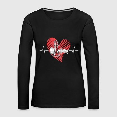 Chess Heartbeat Shirt - Women's Premium Longsleeve Shirt