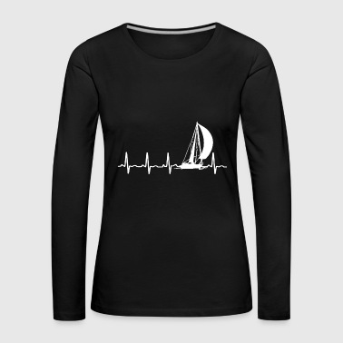 Sailing Heartbeat Shirt - Women's Premium Longsleeve Shirt