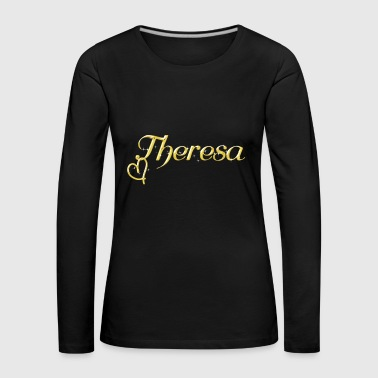 Theresa name first name women name day - Women's Premium Longsleeve Shirt
