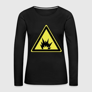Attention explosive - T-shirt manches longues Premium Femme