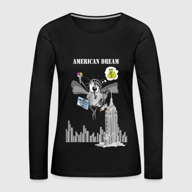 AMERICAN DREAM NYC - T-shirt manches longues Premium Femme