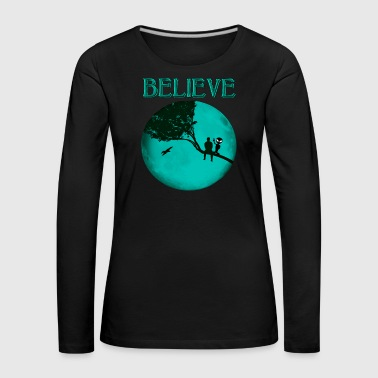 Believe Alien Moon - Women's Premium Longsleeve Shirt