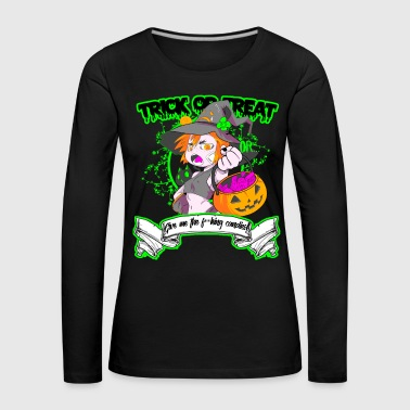 Trick or Treat - T-shirt manches longues Premium Femme