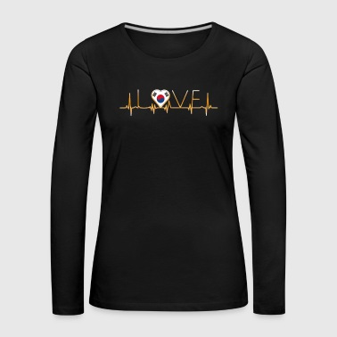 home roots home love heart from South Korea - Women's Premium Longsleeve Shirt