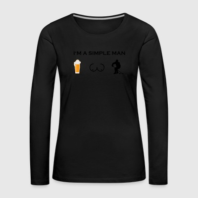 Simple man boobs beer beer tits hockey ice squat - Women's Premium Longsleeve Shirt