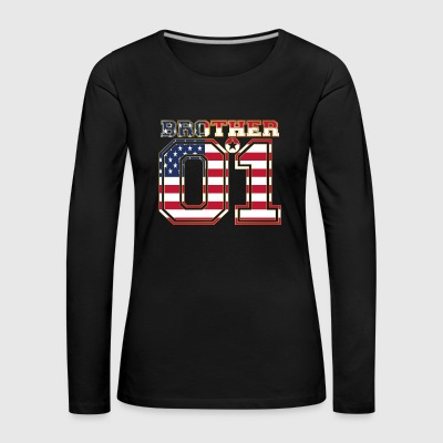 brother brother brother 01 partner USA America - Women's Premium Longsleeve Shirt