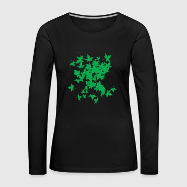 LEAF TREE GREEN - T-shirt manches longues Premium Femme