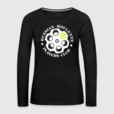 Russian Roulette Players Club -Logo 4 Black - Women's Premium Longsleeve Shirt