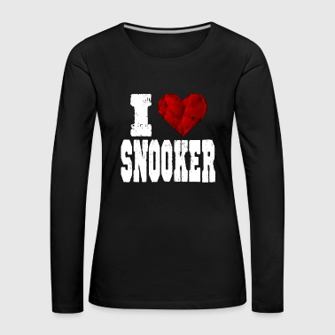 Snooker i love spruch heart love love - Women's Premium Longsleeve Shirt