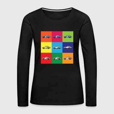 Muti Colour Rally Car - Women's Premium Longsleeve Shirt