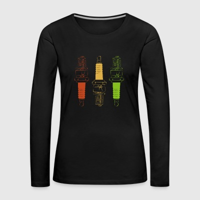 Spark Plugs - Red Yellow Green - T-shirt manches longues Premium Femme