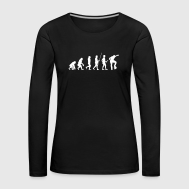 Evolution to the skater t-shirt gift - Women's Premium Longsleeve Shirt
